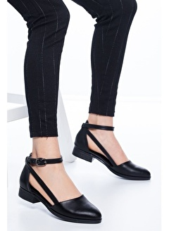 MASK Rayna Kısa Topuk Cilt Ayakkabı Beyaz